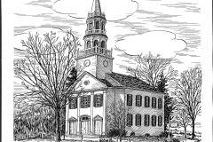 Church Drawing by Jane Kingsley