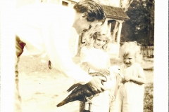 Lois & Joan Lindsay with Duck