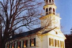 Exterior of Church at Christmas