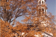 Church exterior in the fall