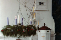 Church Sanctuary at Christmas Season