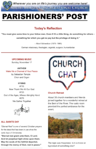 Click Here To See The Latest Parishioner's Post